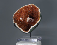 Giant Mounted Citrine Geode