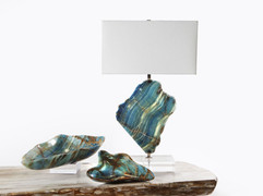 Blue Calcite Table Lamp