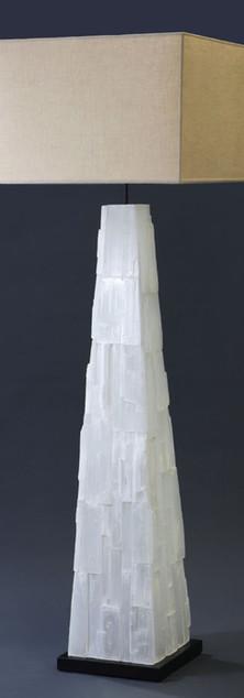 Selenite Pyramid Floor Lamp