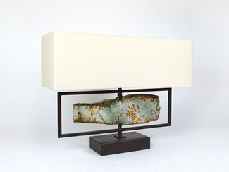 Horizontal Ocean Jasper Desk Lamp