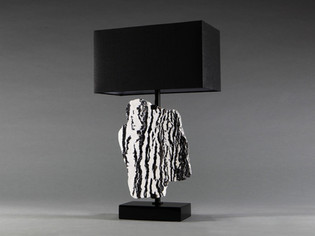 Zebra Stone Table Lamp