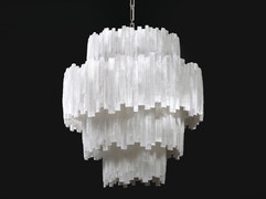 4 Tier Selenite Chandelier