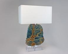 Blue Calcite Lamp