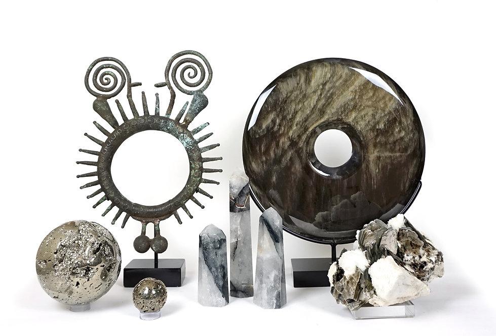Minerals and artifact