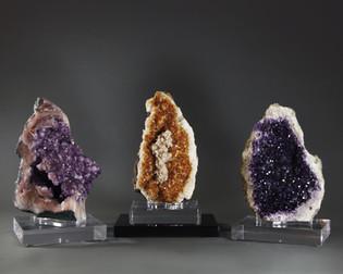 Amethyst & Citrine Geodes
