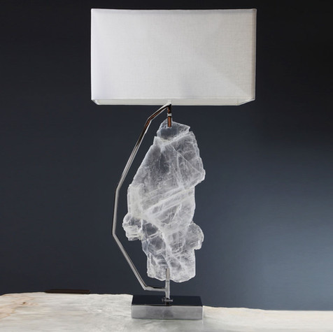 Profile Framed Selenite Lamp