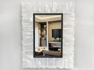Selenite mirror with inner trim