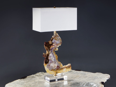 Agate and Amethyst Table Lamp