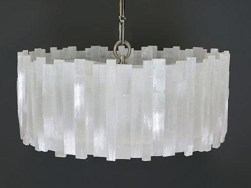 Round Selenite chandelier