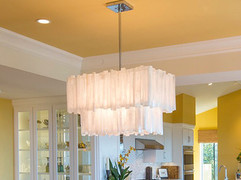 2 Tier Rectangle Selenite Chandelier