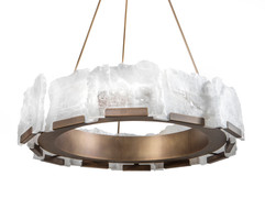 Halo Selenite Chandelier