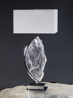 Profile Framed Selenite Table Lamp