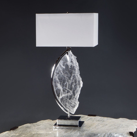Profile Framed Selenite Table Lamp