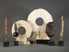 African bronzes and wood figures