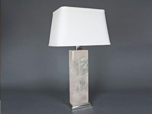 Rectangular Rock Crystal Lamp