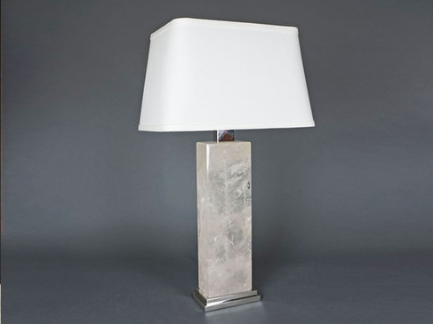 Rectangular Rock Crystal Lamp