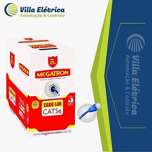 Cabo De Rede Azul Cat5e Megatron 305 Mts Homologado Anatel