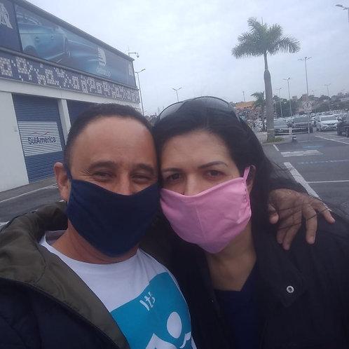 Kit Máscaras Reutilizáveis 100% algodão (10 uni)