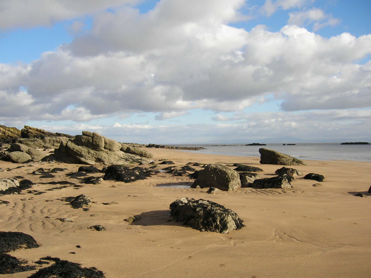 Castle Point beach at low tide