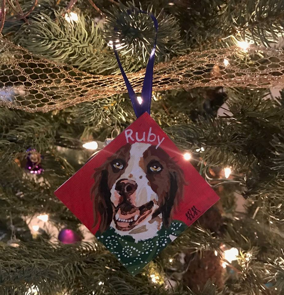 Ruby's Ornament on the Tree