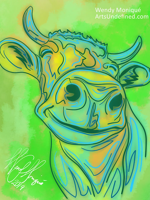 Laughing Animals Series - Giggling Gertie (11x14 Matted)