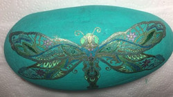 "Dragonfly Garden Rock (about 11""x6"") use"
