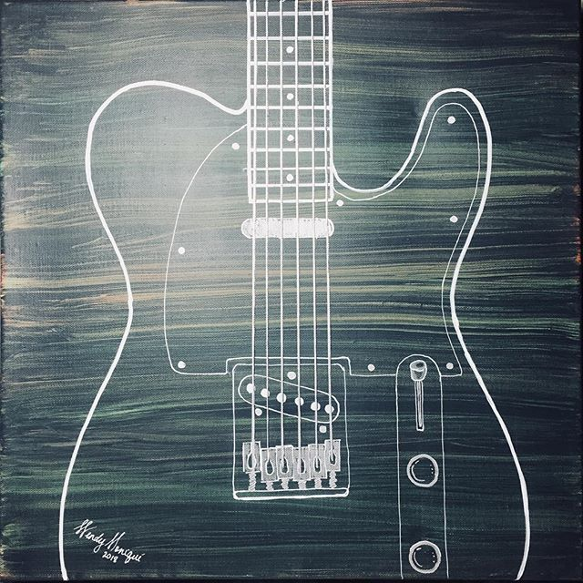 Newest piece - Ghost Guitar (green)  #gu