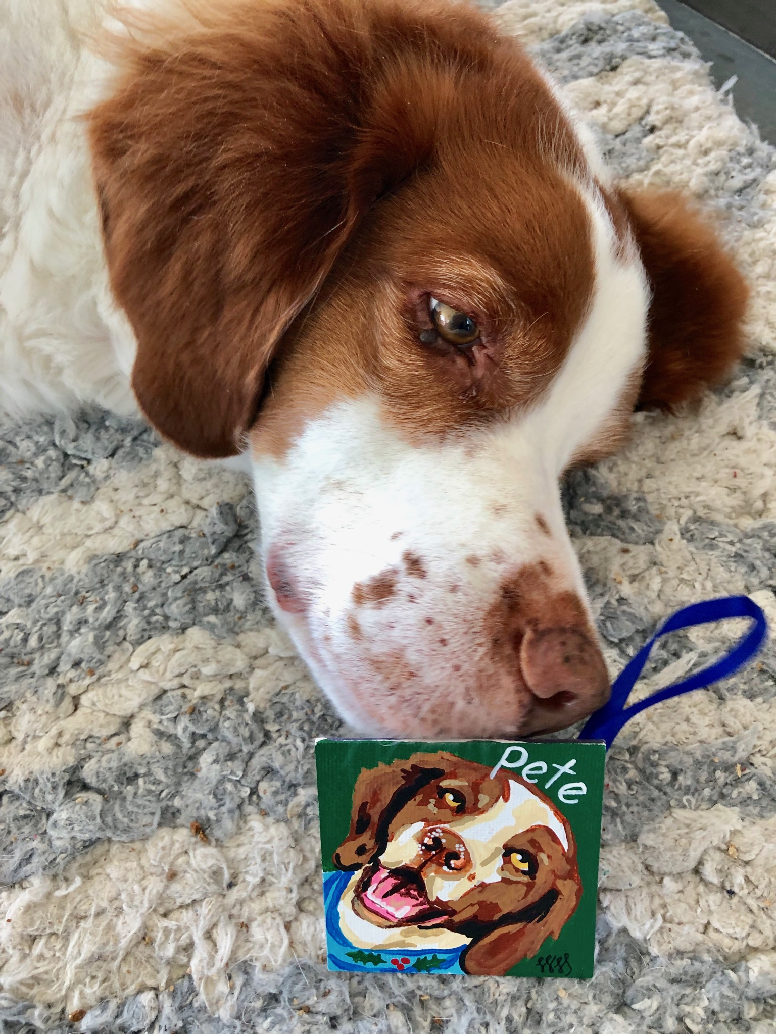 Pete with his ornament