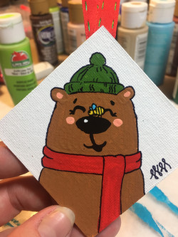 Cute Bear and BEE
