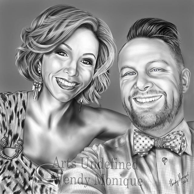 "LATEST PORTRAIT! ""L&R""_This beautiful couple was commissioned by Mr"