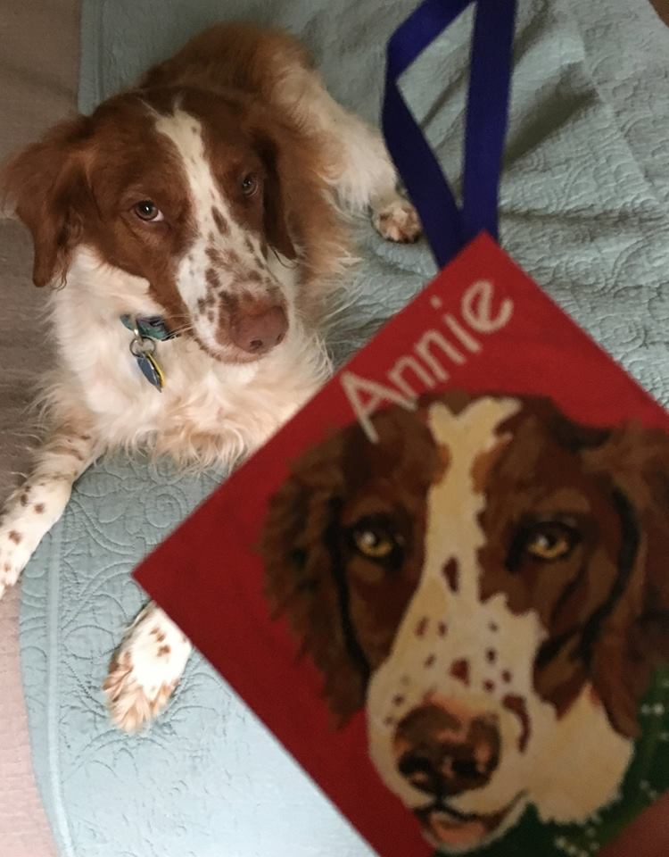 Annie with her Ornament