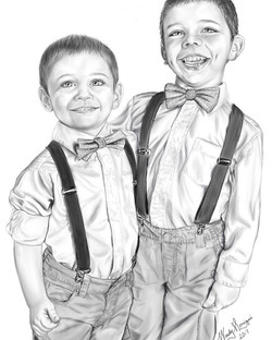 My adorable nephews!_(Drawn using Sketchbook on Samsung Note Tablet) #ArtsUndefined #WendyMoniqueArt