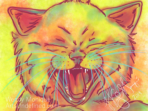 Laughing Animal Series - Katie Kitty (11x14 Matted)