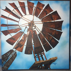 Old Windmill (Acrylic)_Reference photo by JFoster Photography #ArtsUndefined #WendyMoniqueArt #Wendy