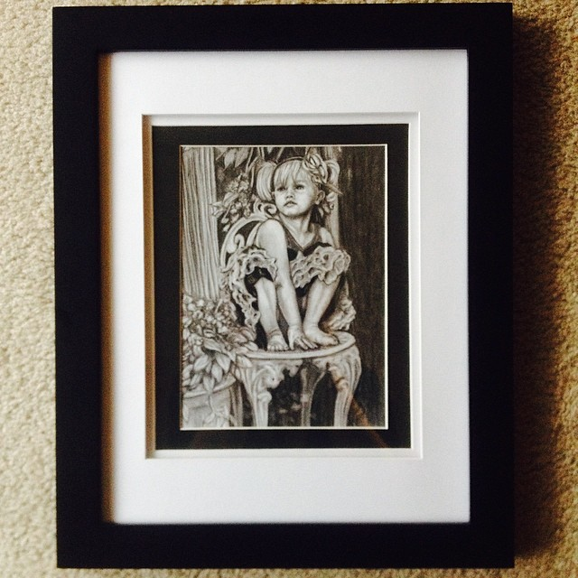 More artwork - drawing of my daughter at 3, my little pixie! Ha! #ArtsUndefined #WendyMoniqueArt #We