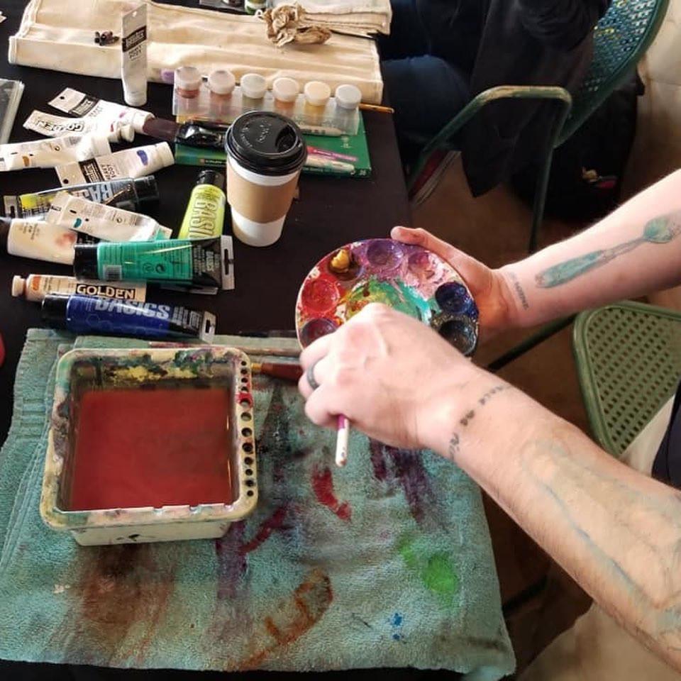 SAVOR Art Event LIVE painting