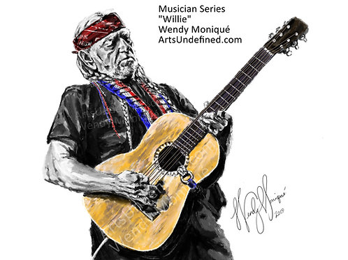 "Musician Series ""Willie"" Art Print (11x14 Matted)"