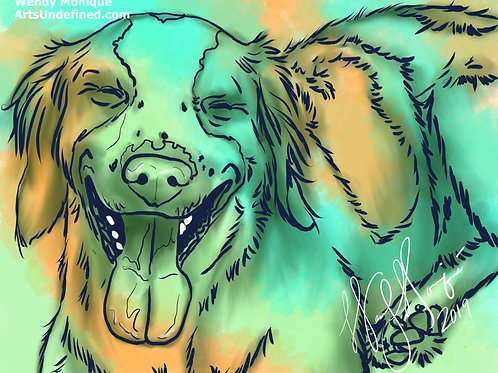 Laughing Animal Series - Charlie (11x17 Matted)