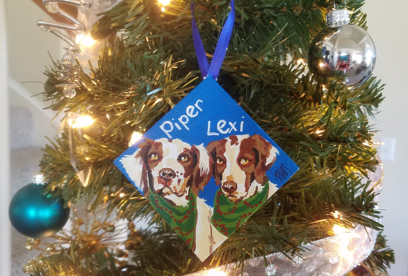 Piper/Lexi Ornament on Tree