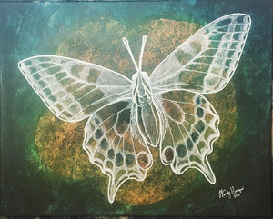 Ghost Butterfly (painted after the ghost