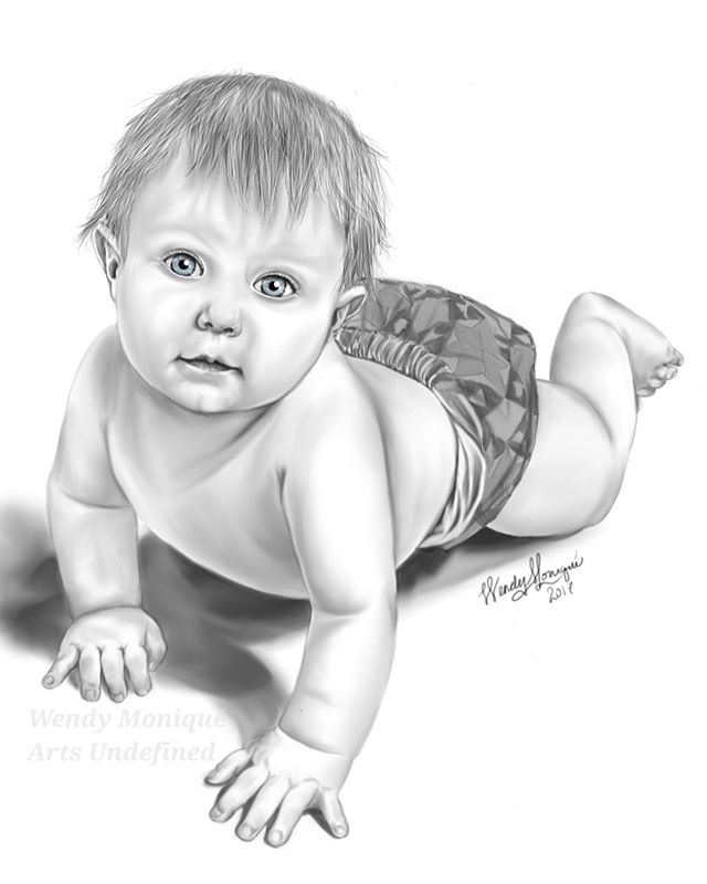 Latest Piece_ Auralye- my adorable squishable baby niece! _hand drawn on Samsung tablet -- drawings