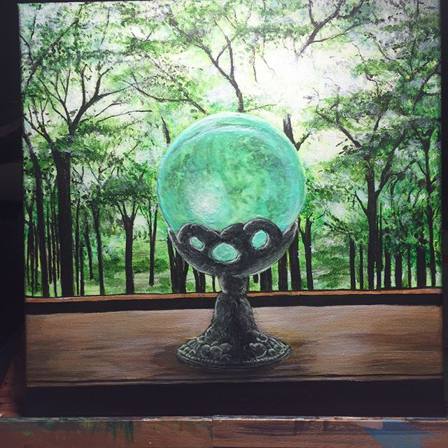 Glowing Globe (Acrylic with glow!) #ArtsUndefined #WendyMoniqueArt #WendyMonique