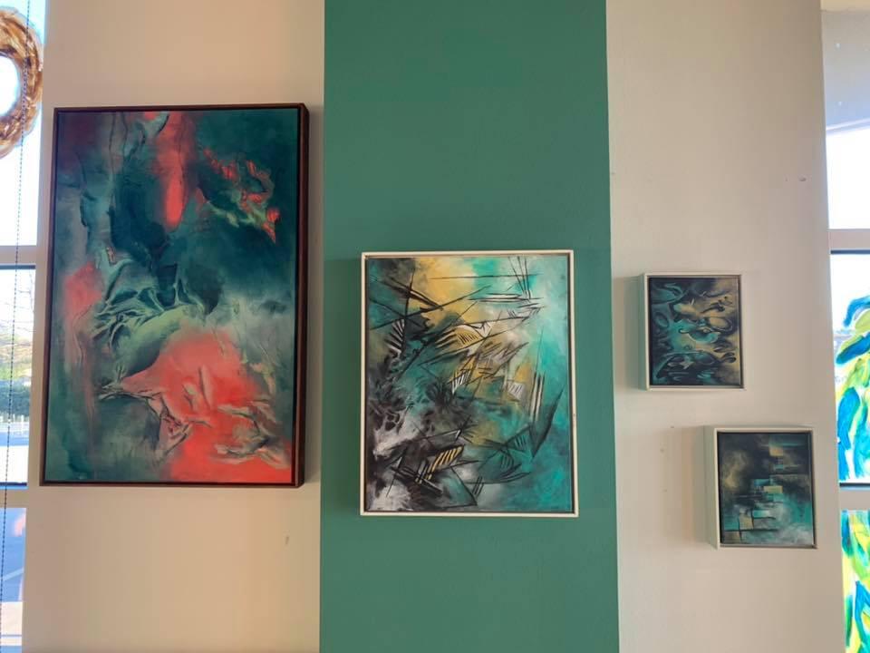 JonRamon Art Display at Savor