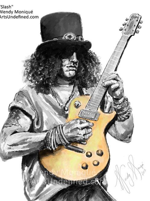 "Musician Series ""Slash"" Art Print (11x14 Matted)"