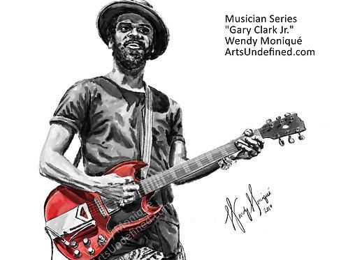 """Musician Series """"GCJ"""" Art Print (11x14 Matted)"""