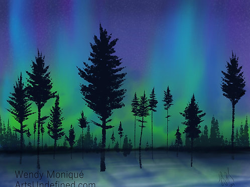 Northern Lights (11x14 Matted)