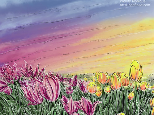 Tulips in the Sky (11x14 Matted)
