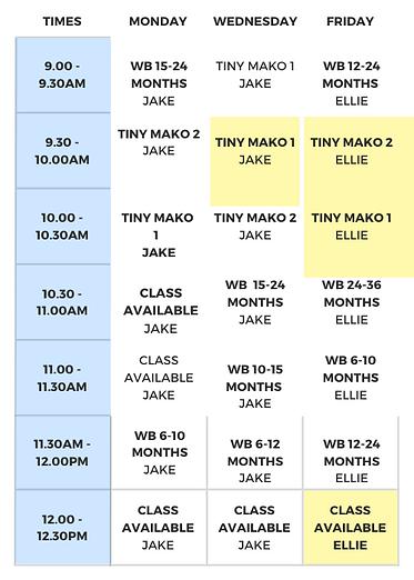 Morning Timetable - Term Three 2020 (2).