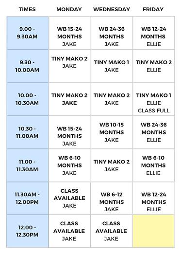 Morning Timetable - Term Three 2020 (1).