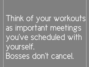 Don't cancel on yourself.